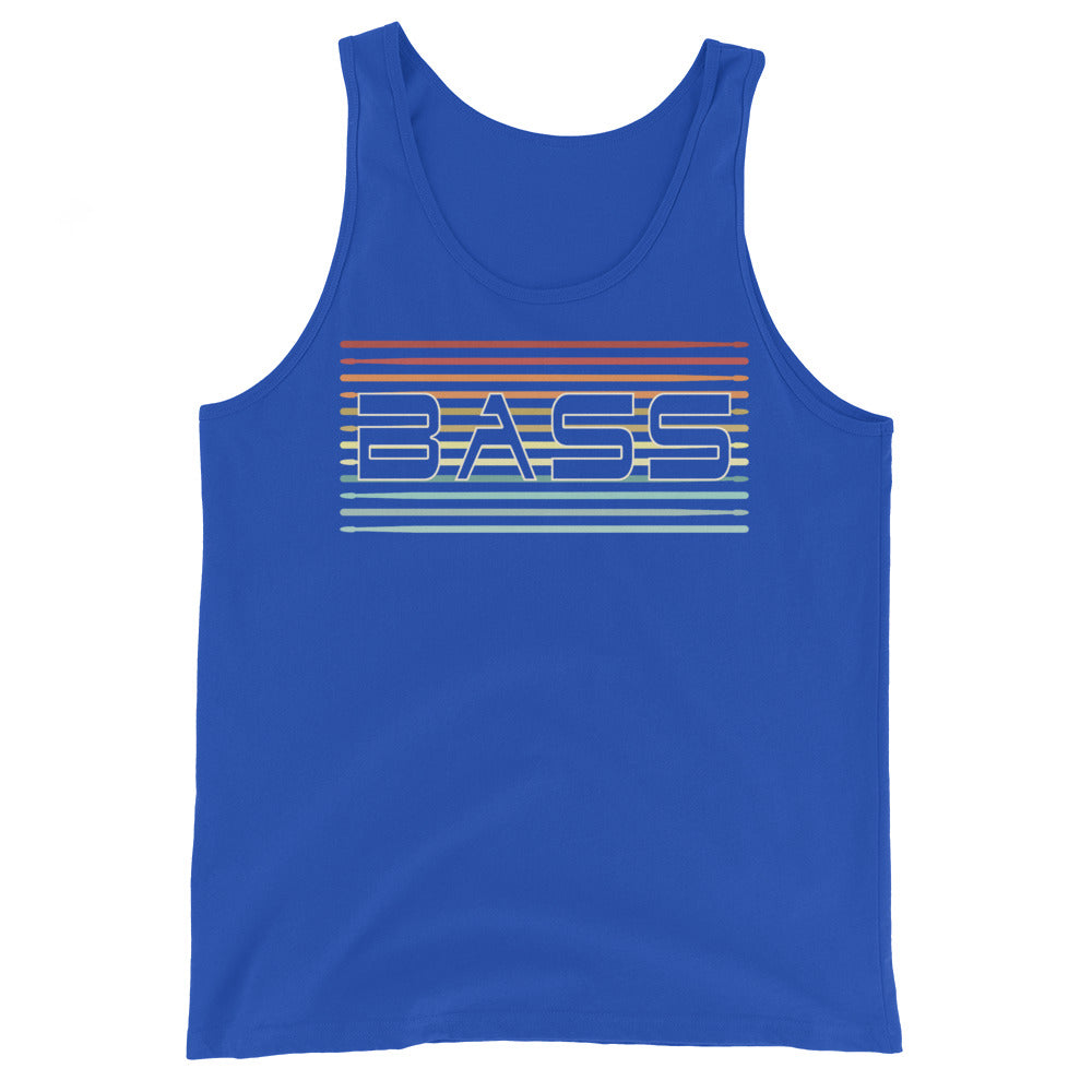 Retro Bass Percussion Unisex Tank Top-Marching Arts Merchandise-True Royal-XS-Marching Arts Merchandise