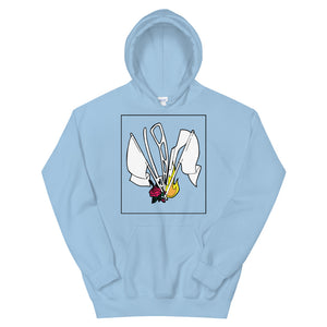 Color Guard Fire Unisex Hoodie-Marching Arts Merchandise-Light Blue-S-Marching Arts Merchandise