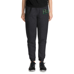 B Natural Marching Band Embroidered Unisex Joggers-Joggers-Marching Arts Merchandise-Black Heather-S-Marching Arts Merchandise