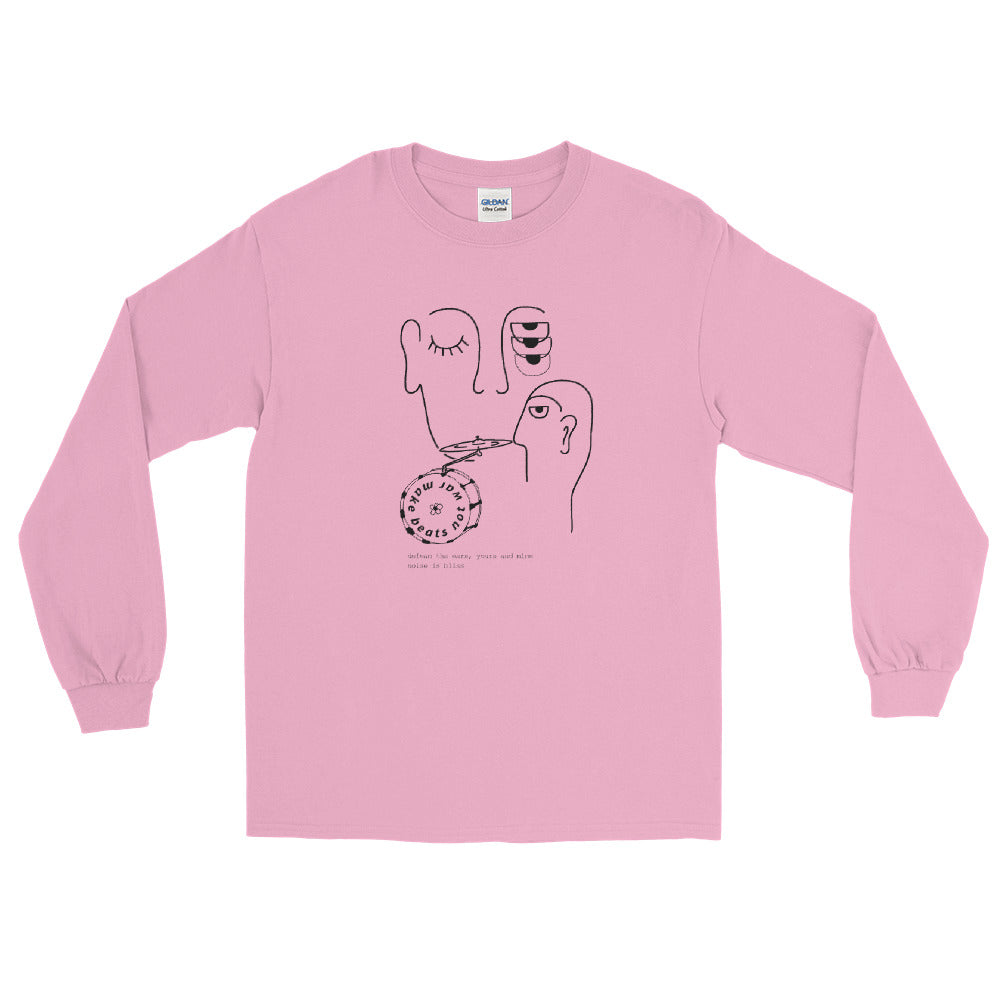 Line Bass Cymbal Percussion Long Sleeve Shirt-Marching Arts Merchandise-Light Pink-S-Marching Arts Merchandise