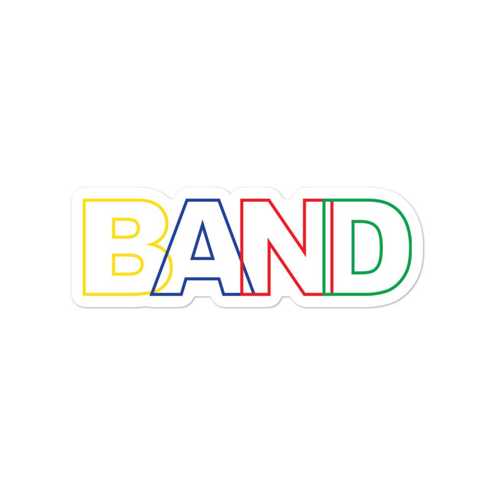 Basic Band Marching Band Bubble-Free Stickers-Sticker-Marching Arts Merchandise-4x4-Marching Arts Merchandise