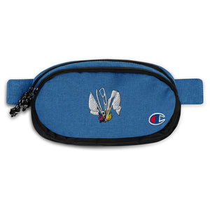 Color Guard Fire Champion Fanny Pack-Marching Arts Merchandise-Heather Royal/Black-Marching Arts Merchandise
