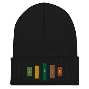 Retro Saber Cuffed Beanie-Marching Arts Merchandise-Black-Marching Arts Merchandise