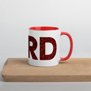 Glitter Nerd Mug with Color Inside-Marching Arts Merchandise-Marching Arts Merchandise