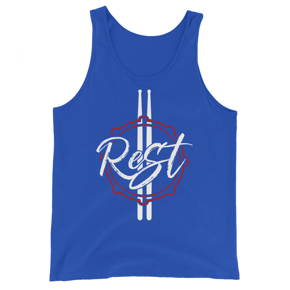Rest Marching Band Unisex Tank Top-Marching Arts Merchandise-True Royal-XS-Marching Arts Merchandise