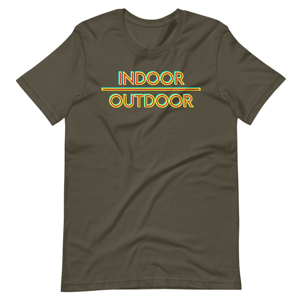 Indoor Over Outdoor Short-Sleeve Unisex T-Shirt-Marching Arts Merchandise-Army-S-Marching Arts Merchandise