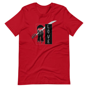 Saber Love Color Guard Short-Sleeve Unisex T-Shirt-Marching Arts Merchandise-Red-S-Marching Arts Merchandise