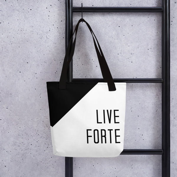 Live Forte Tote Bag - Marching Arts Merchandise -  - Marching Arts Merchandise - Marching Arts Merchandise - band percussion color guard clothing accessories home goods