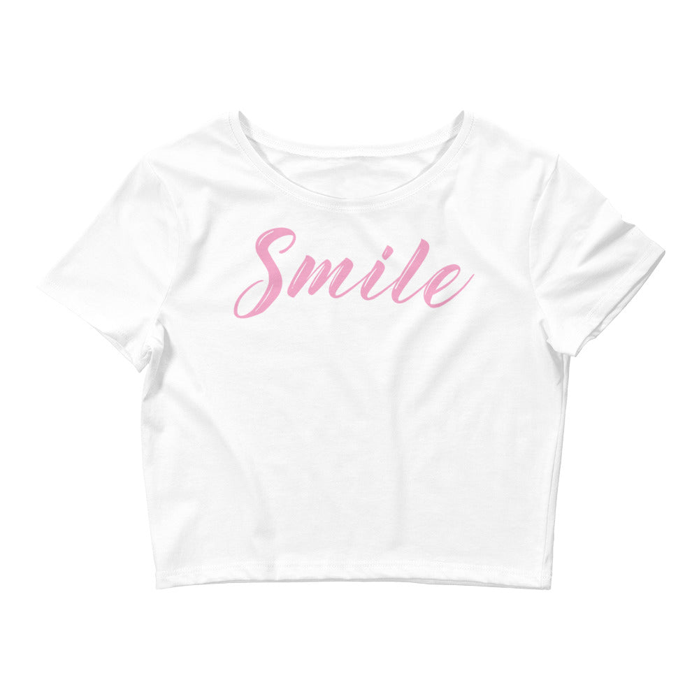 Smile Color Guard Women's Crop Tee-Marching Arts Merchandise-White-XS/SM-Marching Arts Merchandise
