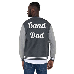 Band Dad Band Parent Men's Letterman Jacket-Jacket-Marching Arts Merchandise-S-Marching Arts Merchandise