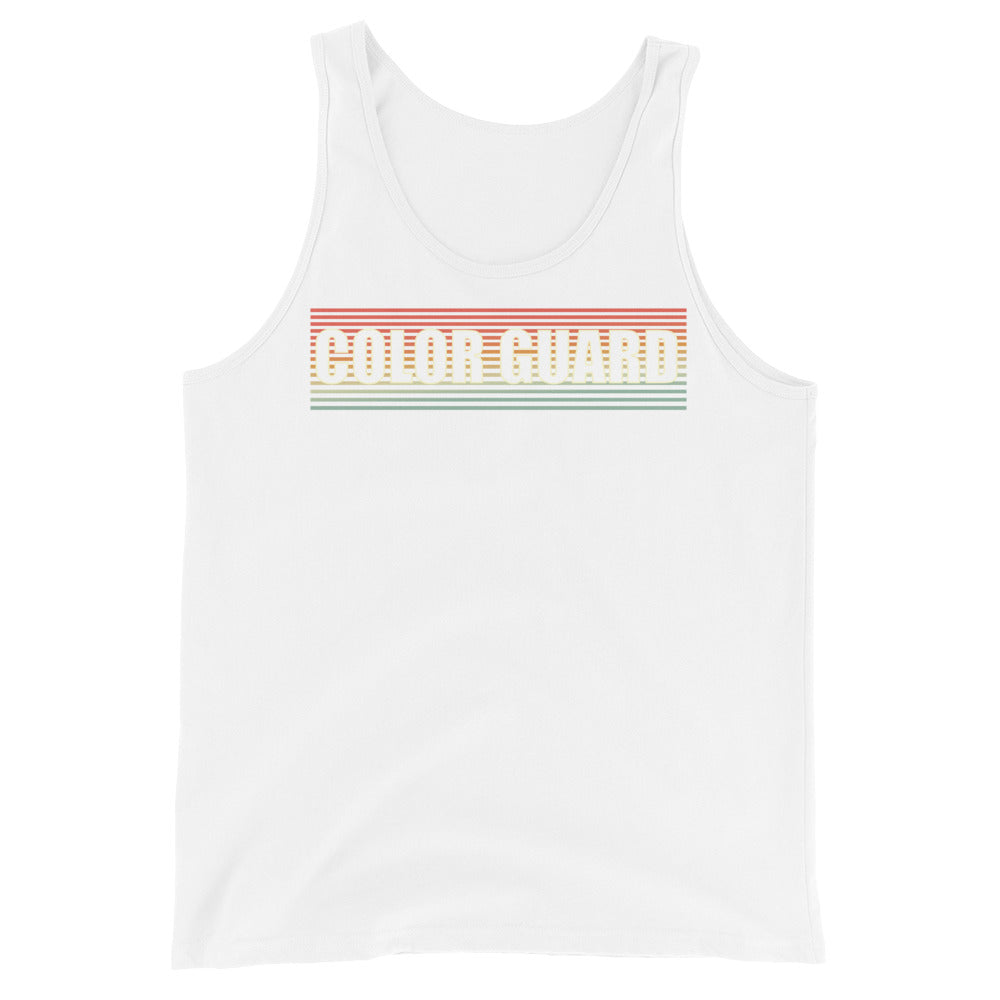 Retro Color Guard Unisex Tank Top-Marching Arts Merchandise-White-XS-Marching Arts Merchandise