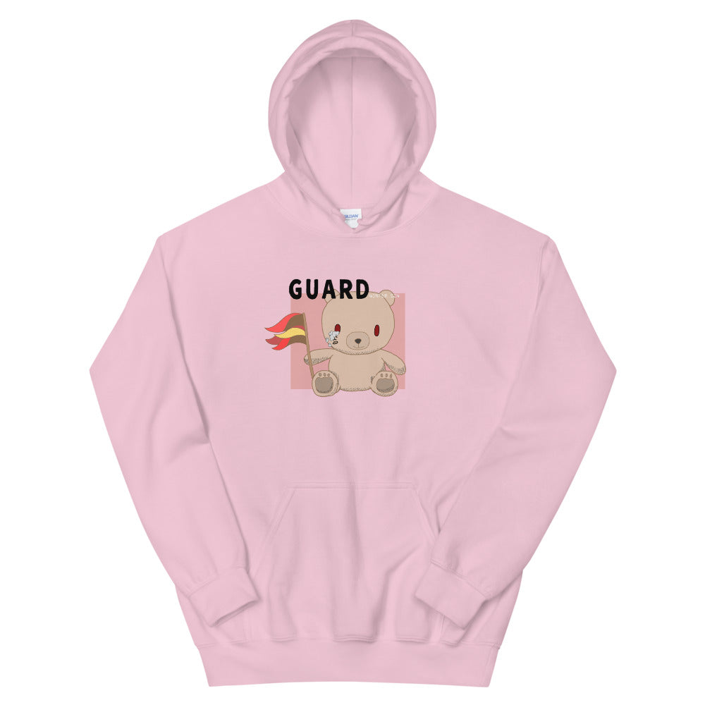 Teddy Flag Color Guard Unisex Hoodie-Marching Arts Merchandise-Light Pink-S-Marching Arts Merchandise