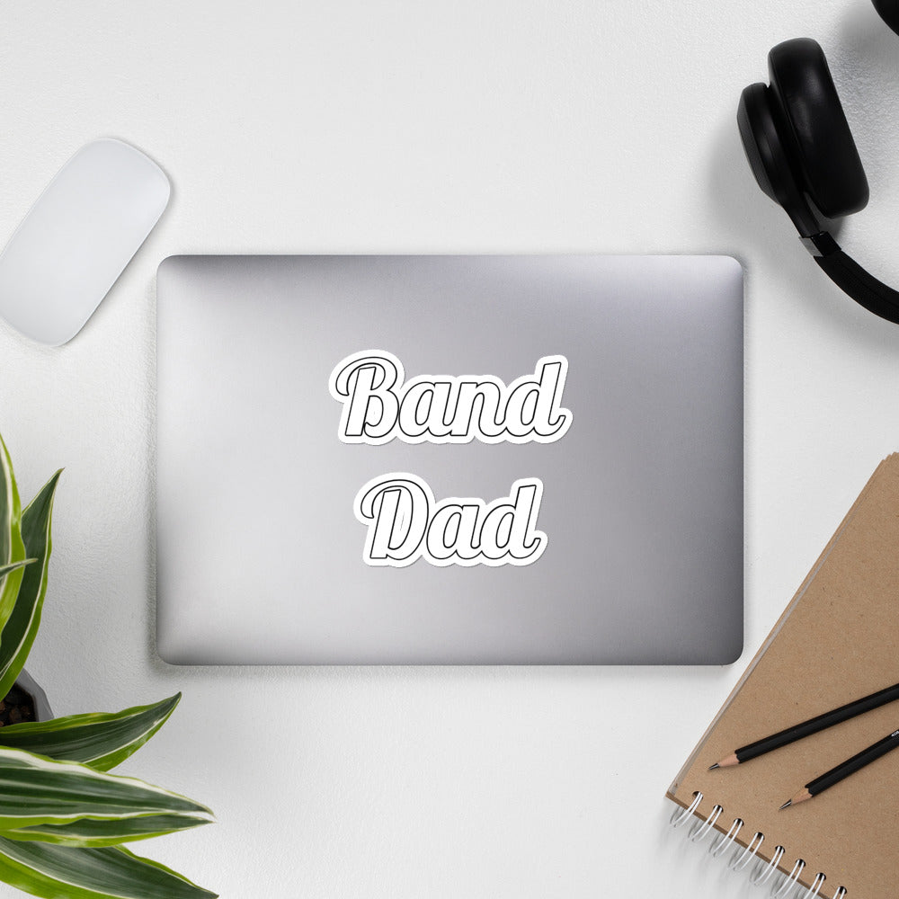 Band Dad Band Parent Bubble-Free Stickers-Sticker-Marching Arts Merchandise-Marching Arts Merchandise