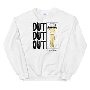 Love Dut Dut Out Color Guard Unisex Sweatshirt-Marching Arts Merchandise-White-S-Marching Arts Merchandise