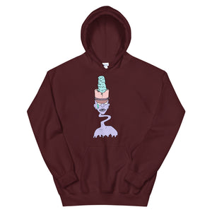 Zombie Drum Major Unisex Hoodie-Marching Arts Merchandise-Maroon-S-Marching Arts Merchandise