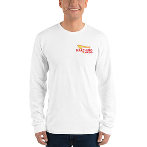 Marching Burgers Unisex Long Sleeve Shirt-Marching Arts Merchandise-White-S-Marching Arts Merchandise