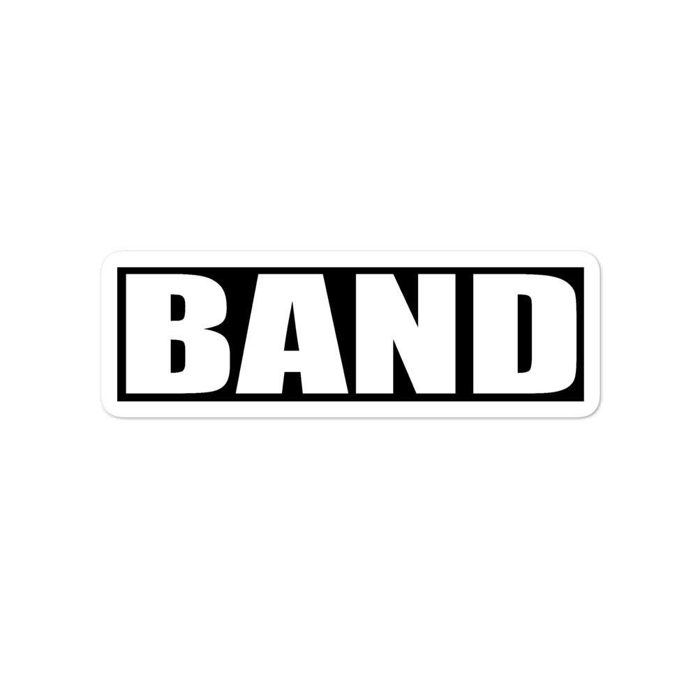 Band Band Marching Band Bubble-Free Stickers-Sticker-Marching Arts Merchandise-4x4-Marching Arts Merchandise