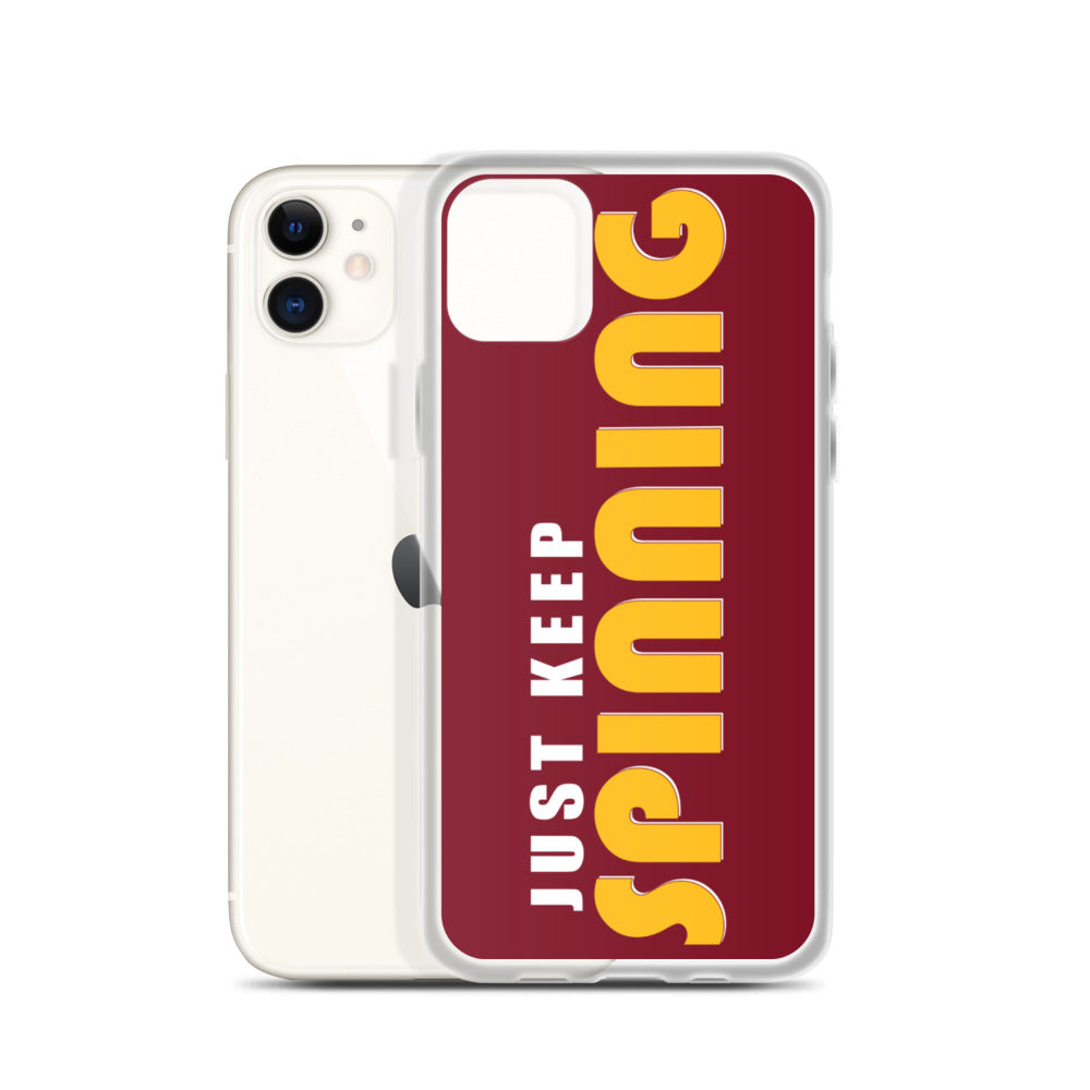 Just Keep Spinning iPhone Case-Marching Arts Merchandise-Marching Arts Merchandise