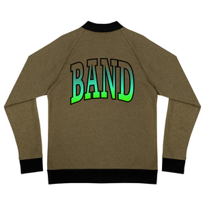 Ombre Band Bomber Jacket-Marching Arts Merchandise-Heather Military Green-S-Marching Arts Merchandise