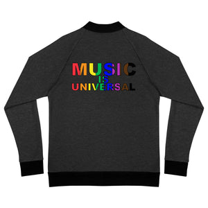 Music Is Universal Bomber Jacket-Marching Arts Merchandise-Heather Black-S-Marching Arts Merchandise