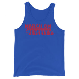 March On Marching Band Unisex Tank Top-Marching Arts Merchandise-True Royal-XS-Marching Arts Merchandise