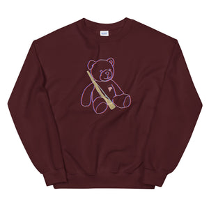 Teddy Rifle Color Guard Unisex Sweatshirt-Marching Arts Merchandise-Maroon-S-Marching Arts Merchandise