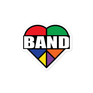 Stained Band Heart Bubble-Free Stickers-Marching Arts Merchandise-3x3-Marching Arts Merchandise