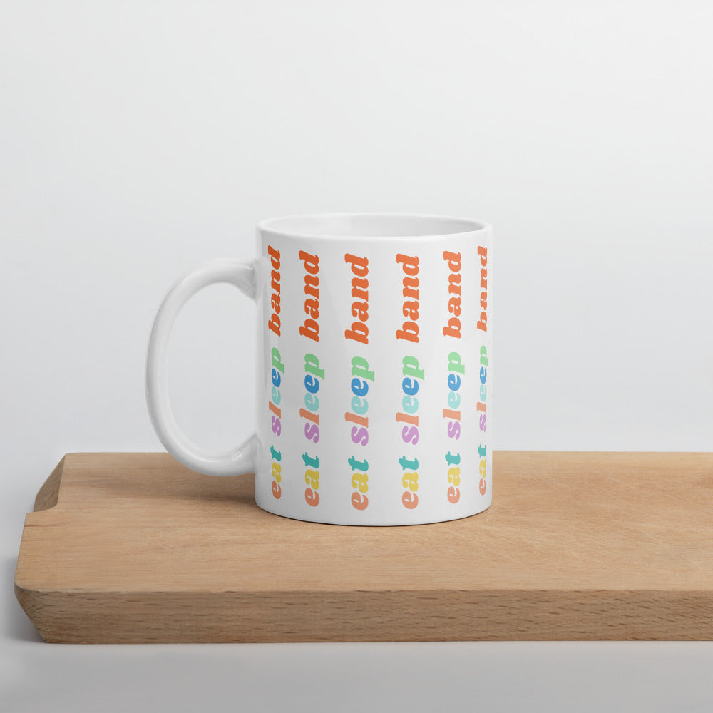 Eat Sleep Band Marching Band Mug-Mug-Marching Arts Merchandise-Marching Arts Merchandise