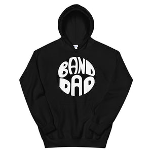 Retro Band Dad Unisex Hoodie-Marching Arts Merchandise-Black-S-Marching Arts Merchandise