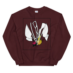 Color Guard Fire Unisex Sweatshirt-Marching Arts Merchandise-Maroon-S-Marching Arts Merchandise