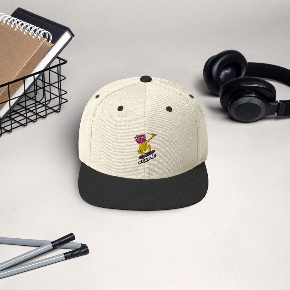 Snare Head Snapback Hat-Marching Arts Merchandise-Marching Arts Merchandise