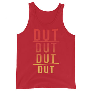DUT DUT DUT DUT Percussion Unisex Tank Top-Marching Arts Merchandise-Red-XS-Marching Arts Merchandise