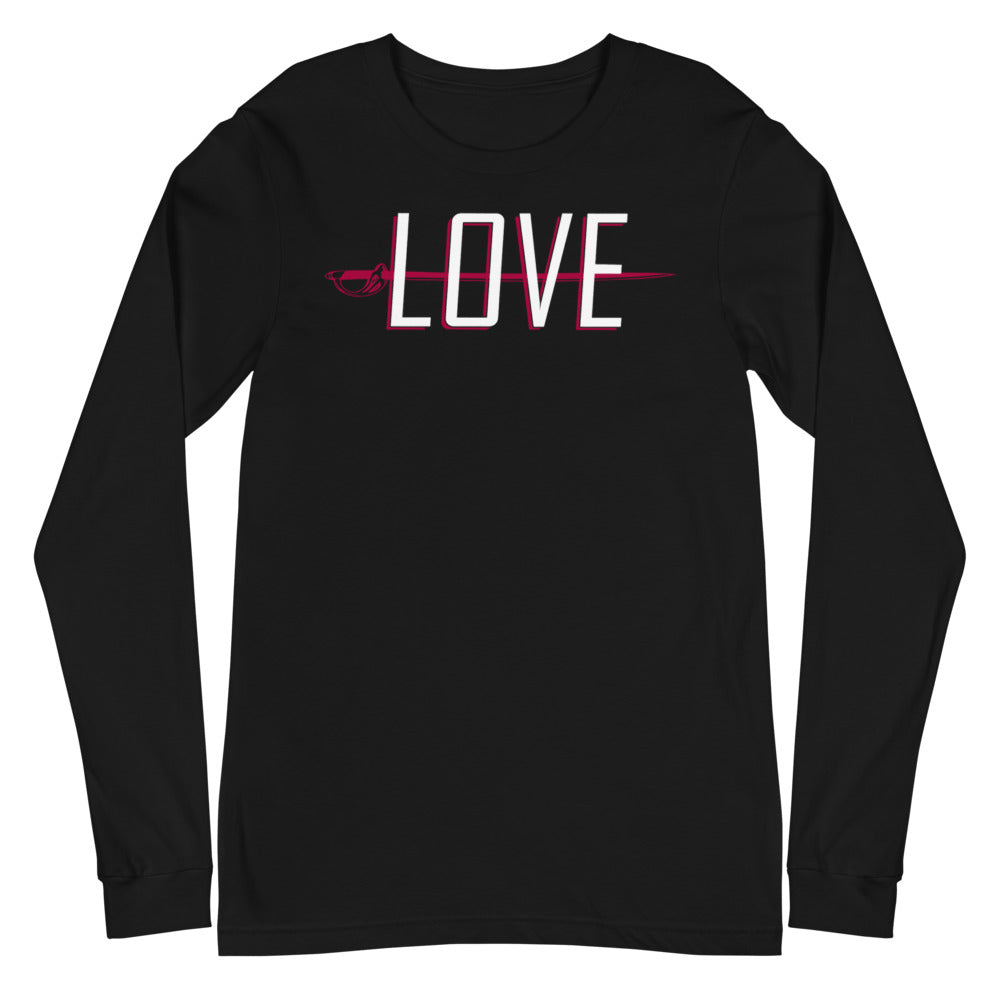 Love Color Guard Unisex Long Sleeve Tee-Marching Arts Merchandise-Black-XS-Marching Arts Merchandise