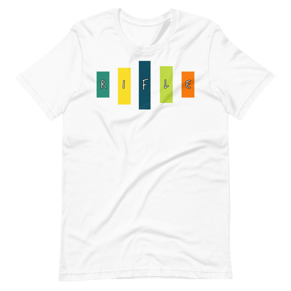 Retro Rifle Short-Sleeve Unisex T-Shirt-Marching Arts Merchandise-White-XS-Marching Arts Merchandise