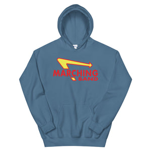 Marching Burgers Unisex Hoodie-Marching Arts Merchandise-Indigo Blue-S-Marching Arts Merchandise