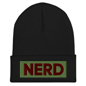 NERD Cuffed Beanie-Marching Arts Merchandise-Black-Marching Arts Merchandise