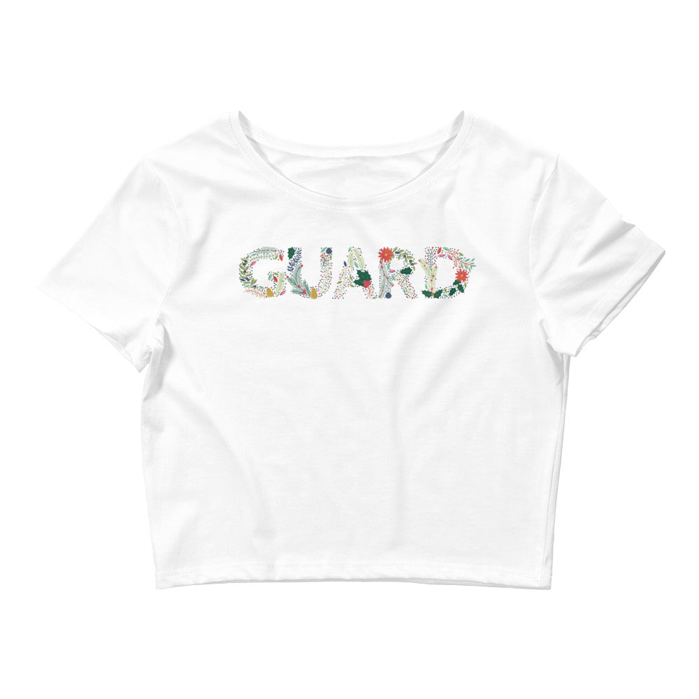 Color Guard Floral Women's Crop Tee-Marching Arts Merchandise-Marching Arts Merchandise