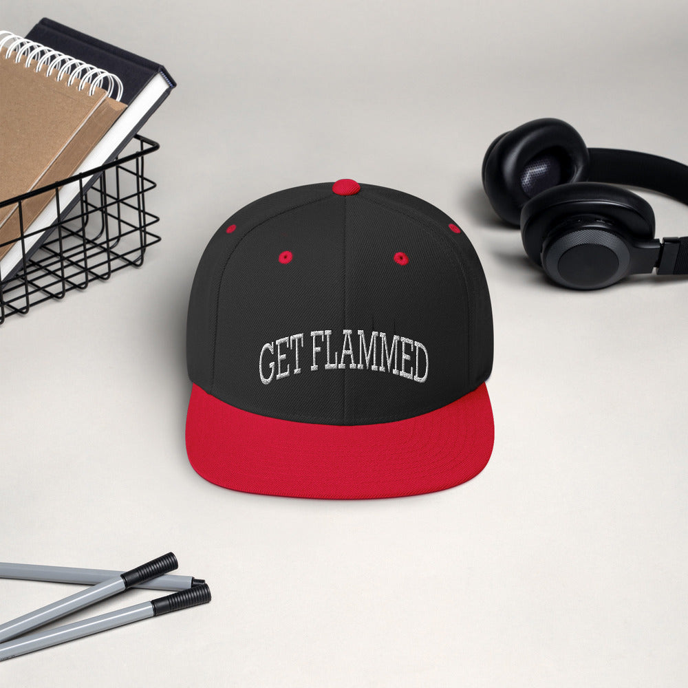 Get Flammed Snapback Hat-Marching Arts Merchandise-Marching Arts Merchandise