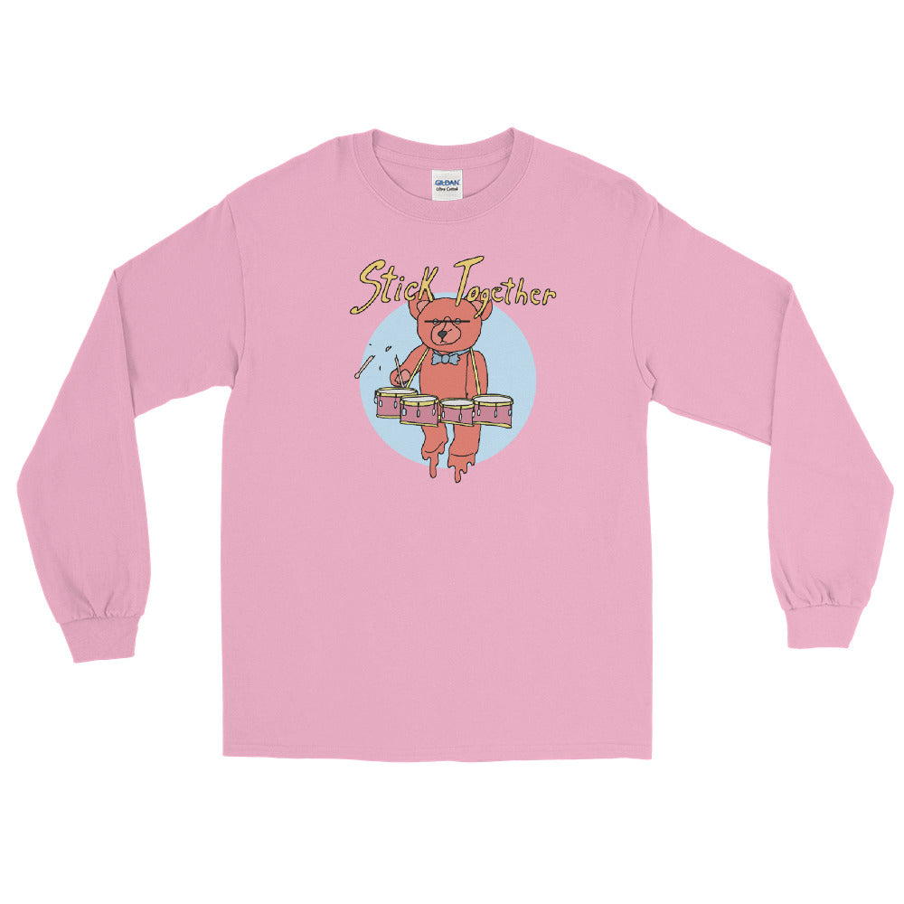 Teddy Tenor Percussion Long Sleeve Shirt-Marching Arts Merchandise-Light Pink-S-Marching Arts Merchandise