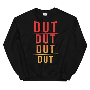 DUT DUT DUT DUT Percussion Unisex Sweatshirt-Marching Arts Merchandise-Black-S-Marching Arts Merchandise