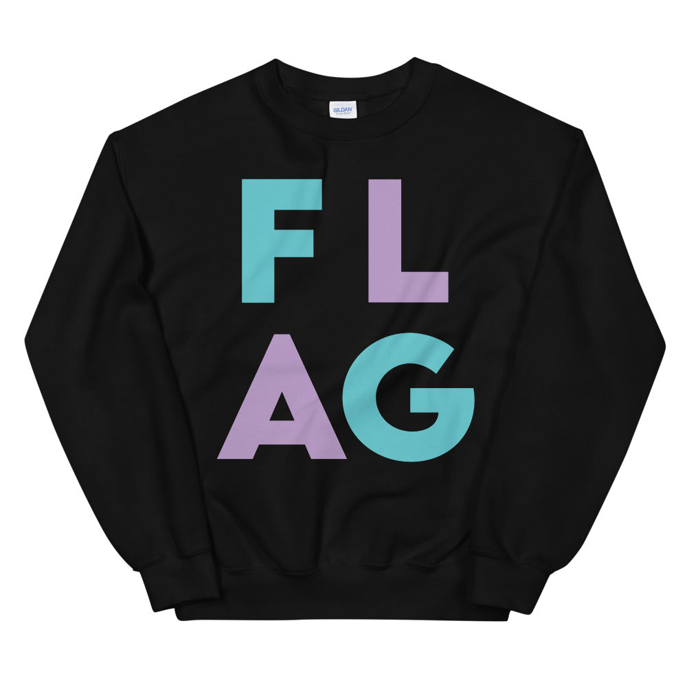 FLAG Block Unisex Sweatshirt-Marching Arts Merchandise-Black-S-Marching Arts Merchandise