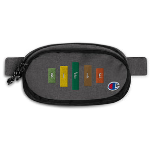 Retro Rifle Champion Fanny Pack-Marching Arts Merchandise-Heather Black/Black-Marching Arts Merchandise