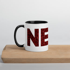 Glitter Nerd Mug with Color Inside-Marching Arts Merchandise-Black-Marching Arts Merchandise