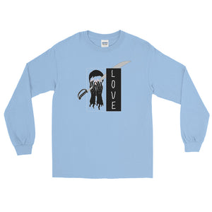 Saber Love Color Guard Long Sleeve Shirt-Marching Arts Merchandise-Light Blue-S-Marching Arts Merchandise