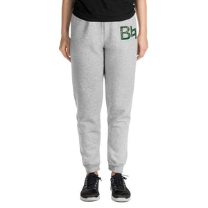 B Natural Marching Band Embroidered Unisex Joggers-Joggers-Marching Arts Merchandise-Athletic Heather-S-Marching Arts Merchandise