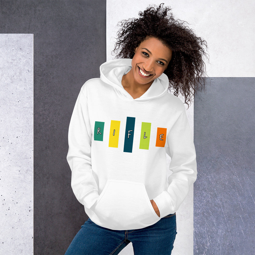 Retro Rifle Unisex Hoodie-Marching Arts Merchandise-Marching Arts Merchandise