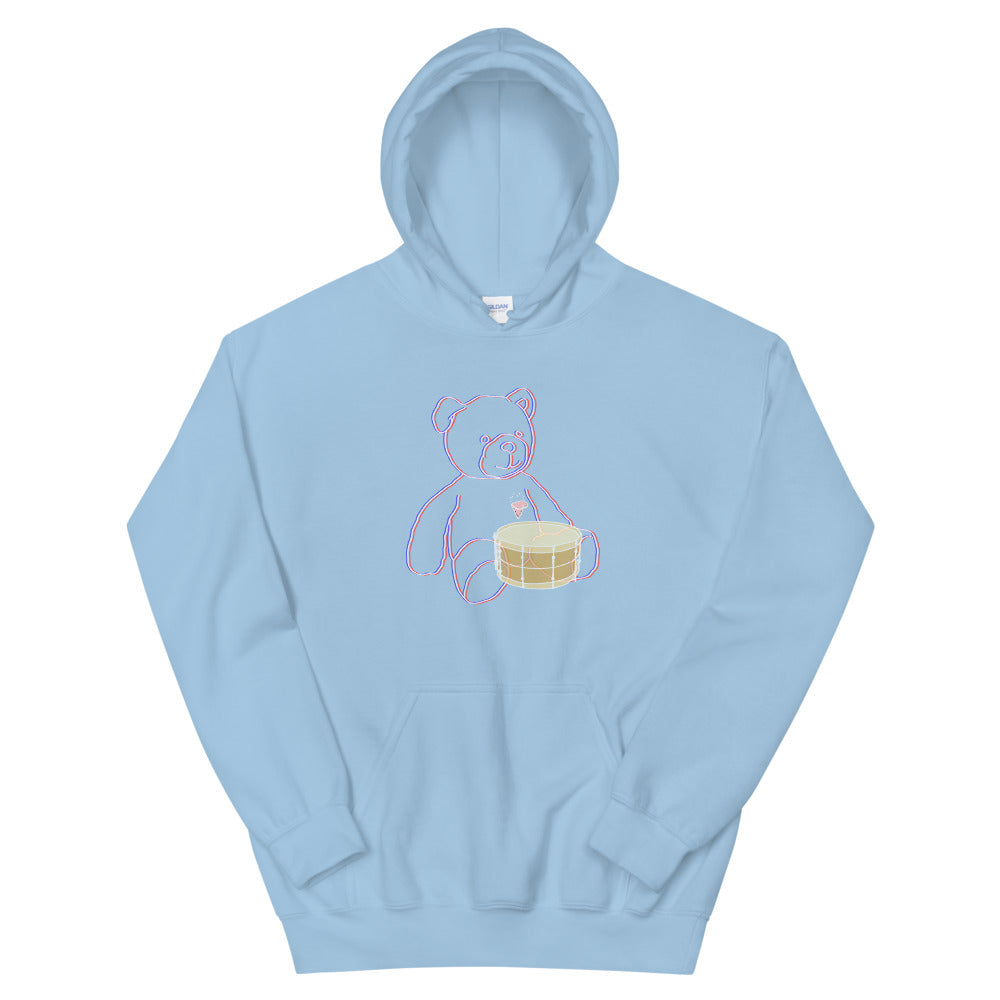 Neon Teddy Snare Percussion Unisex Hoodie-Marching Arts Merchandise-Light Blue-S-Marching Arts Merchandise