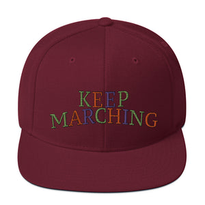 Keep Marching Snapback Hat-Marching Arts Merchandise-Marching Arts Merchandise