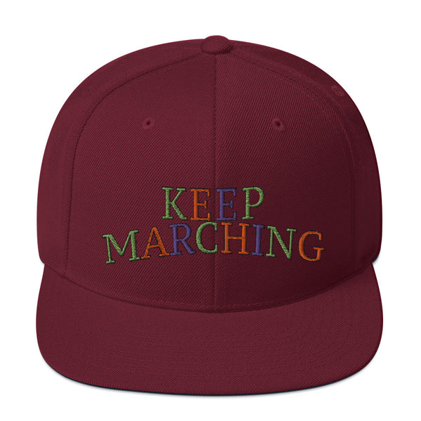Keep Marching Snapback Hat - Marching Arts Merchandise -  - Marching Arts Merchandise - Marching Arts Merchandise - band percussion color guard clothing accessories home goods