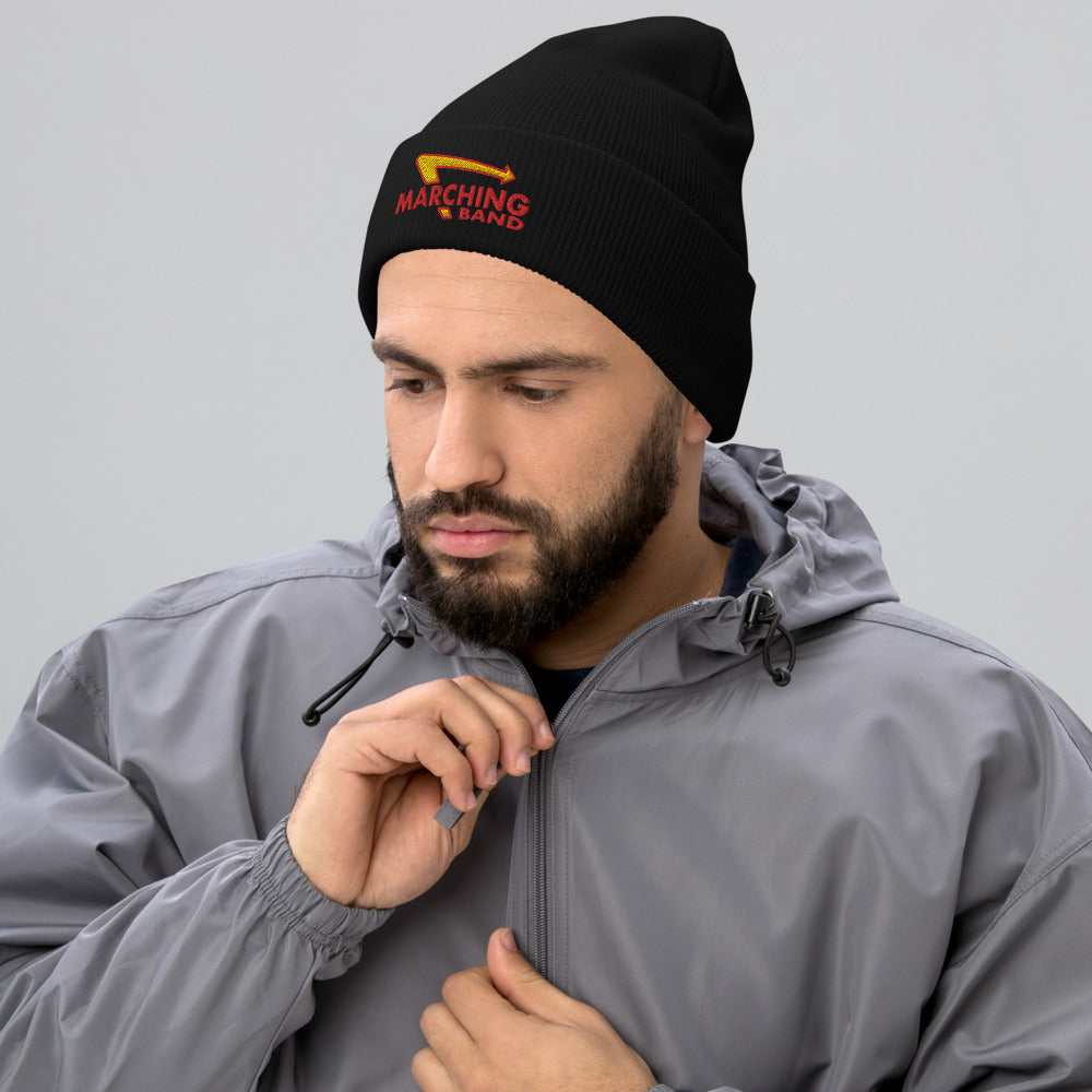 Marching Burgers Cuffed Beanie-Marching Arts Merchandise-Marching Arts Merchandise